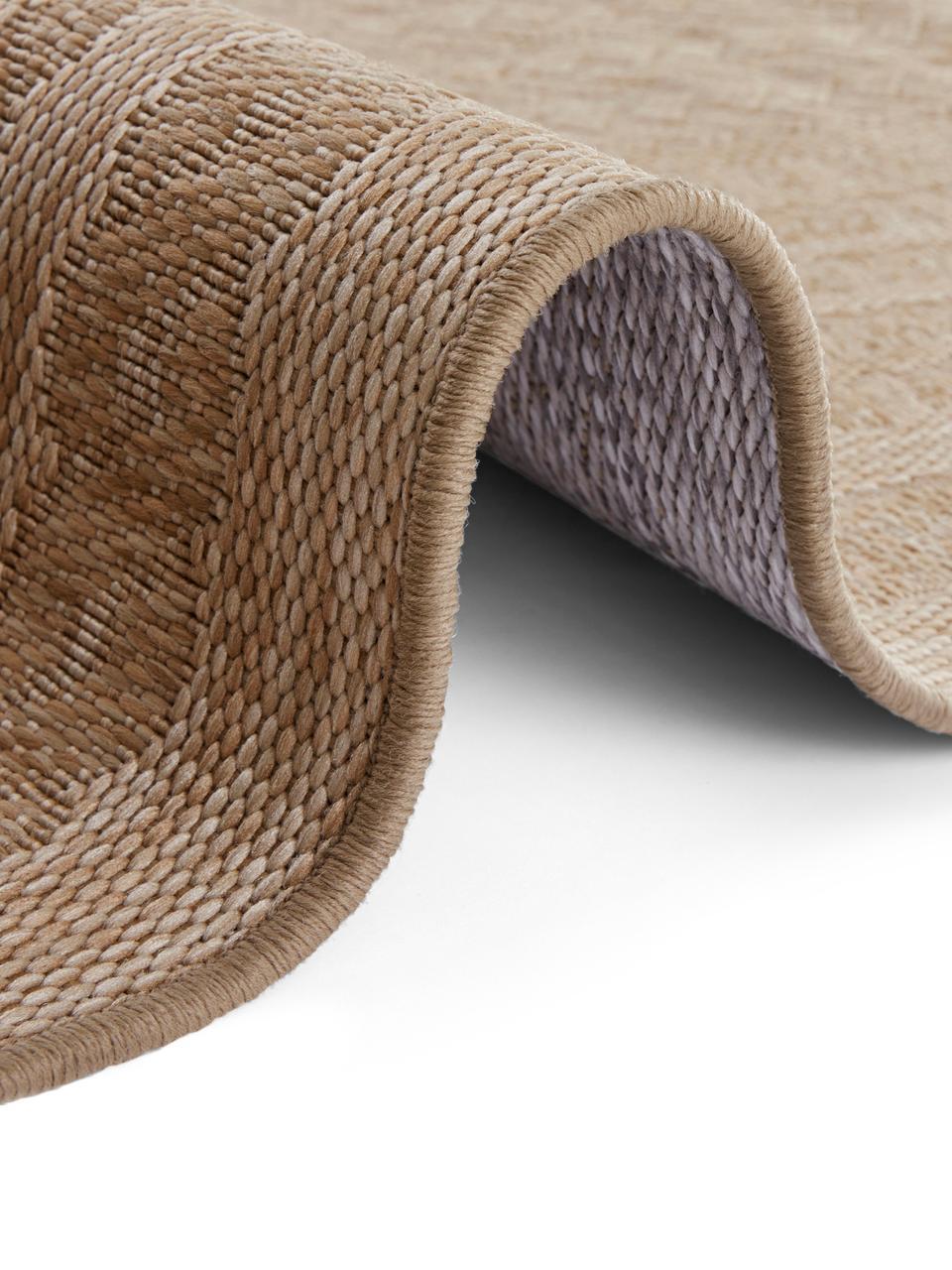 In- &  outdoor vloerkleed Limonero in juten look, 100% polypropyleen, Beige, bruin, B 200 x L 290 cm (maat L)