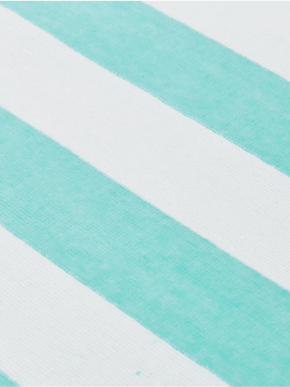 Toalla de playa Mare, Turquesa, blanco, An 80 x L 160 cm