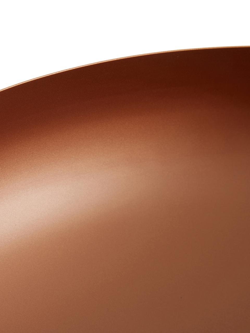 Plafondlamp Jeff, Baldakijn: gepoedercoat metaal, Lampenkap: gepoedercoat metaal, Baldakijn: zwart, koperkleurig, Ø 40 x H 17 cm