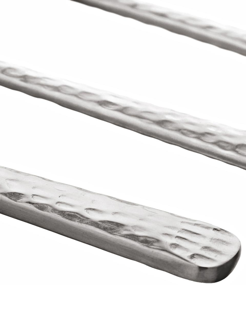 Ménagère en acier inoxydable avec manche martelée Hune, 4 personnes (16élém.), Acier