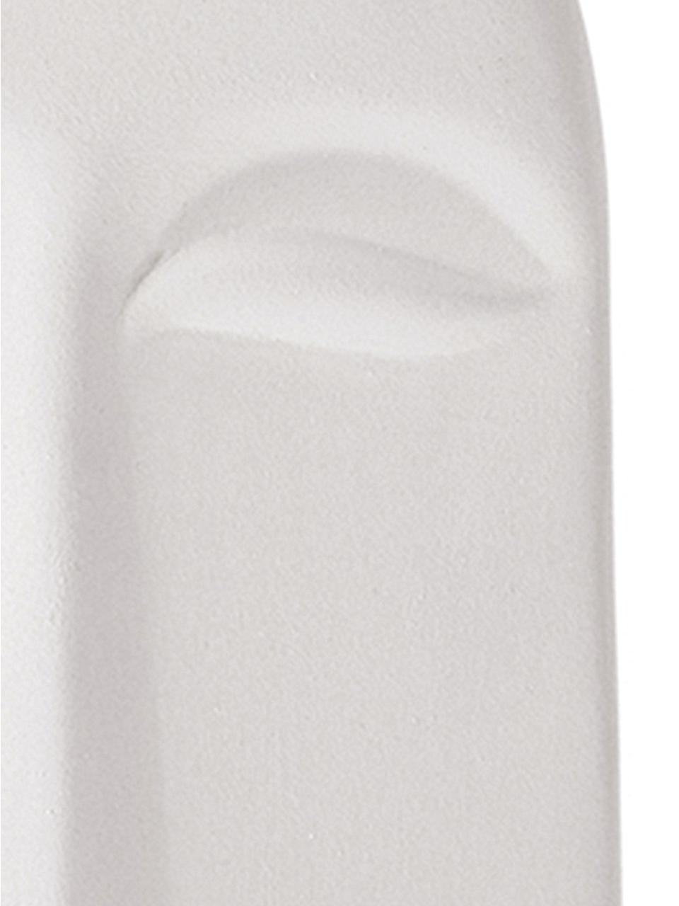 Wandobjekt Mask aus Keramik, Keramik, Weiß, B 13 x T 24 cm