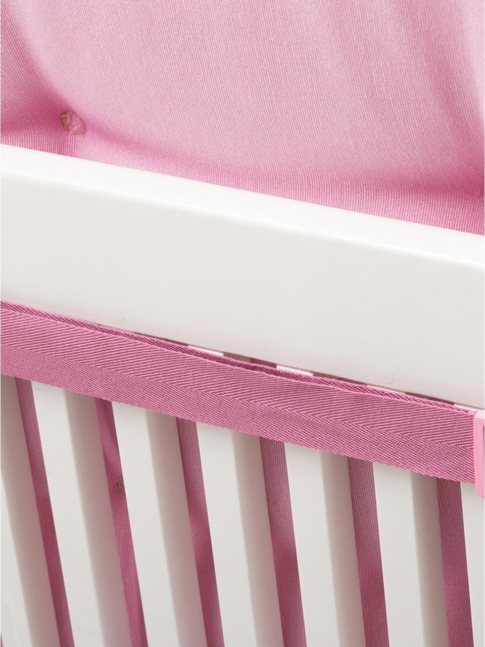 Nakładka na krzesło Panama, Tapicerka: 50% bawełna, 50%polieste, Pastelowy różowy, S 50 x D 123 cm