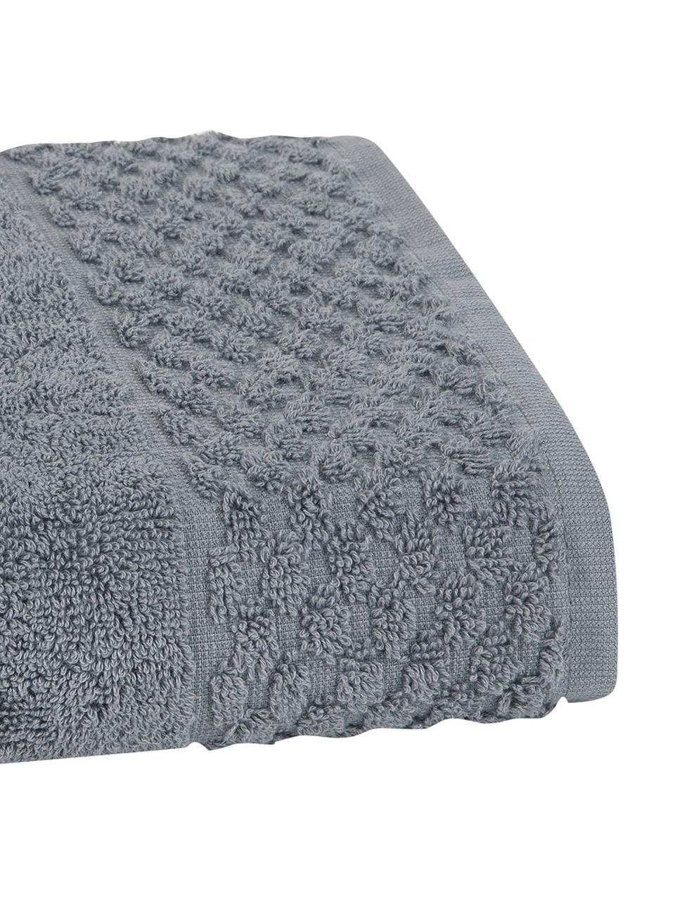 Handtuch Katharina in verschiedenen Größen, mit Wabenmuster, Dunkelgrau, Handtuch