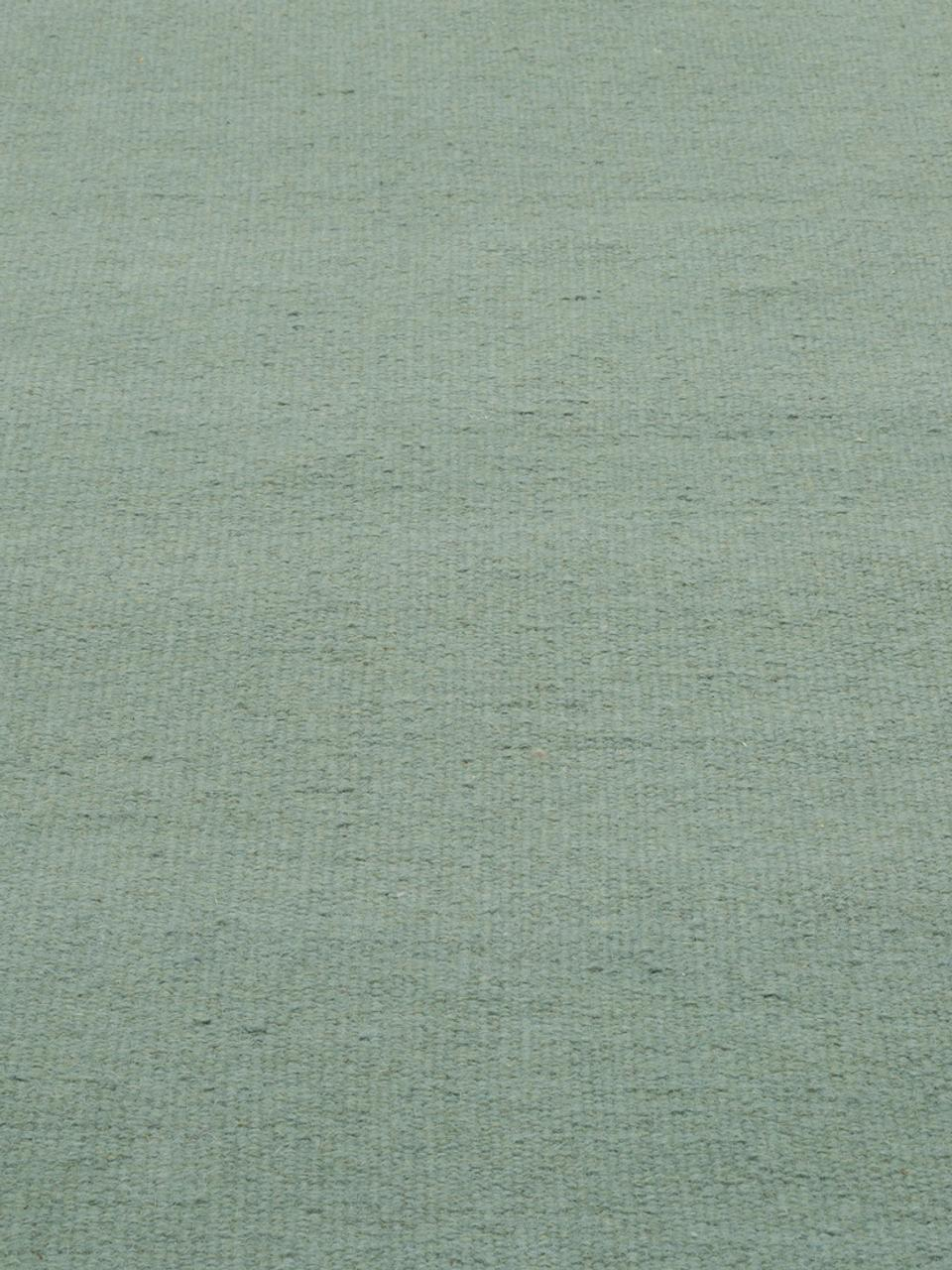 Tapis pure laine vert tissé main Rainbow, Pistache