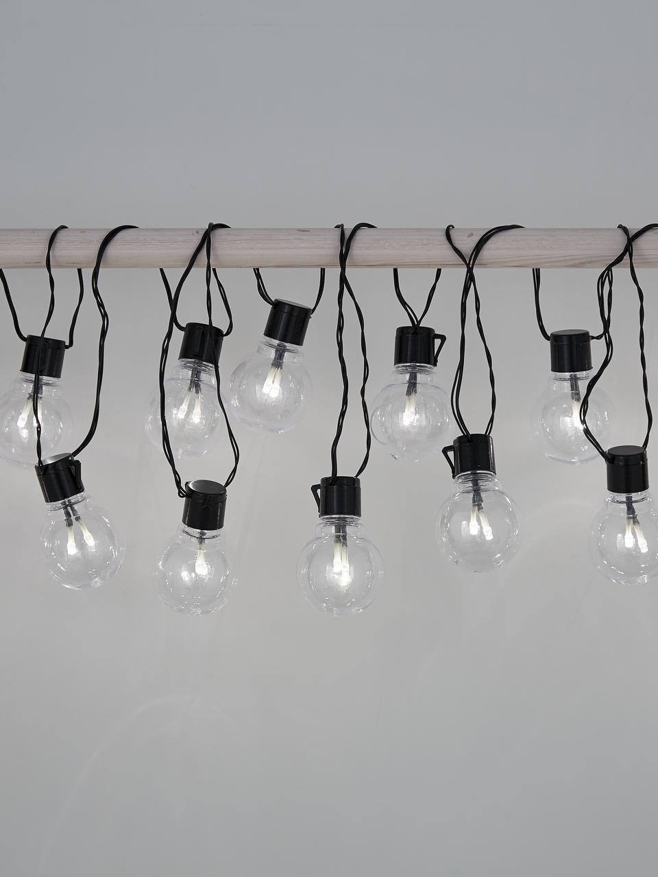 LED-Lichterkette Partaj, 950 cm, Lampions: Kunststoff, Schwarz, L 950 cm