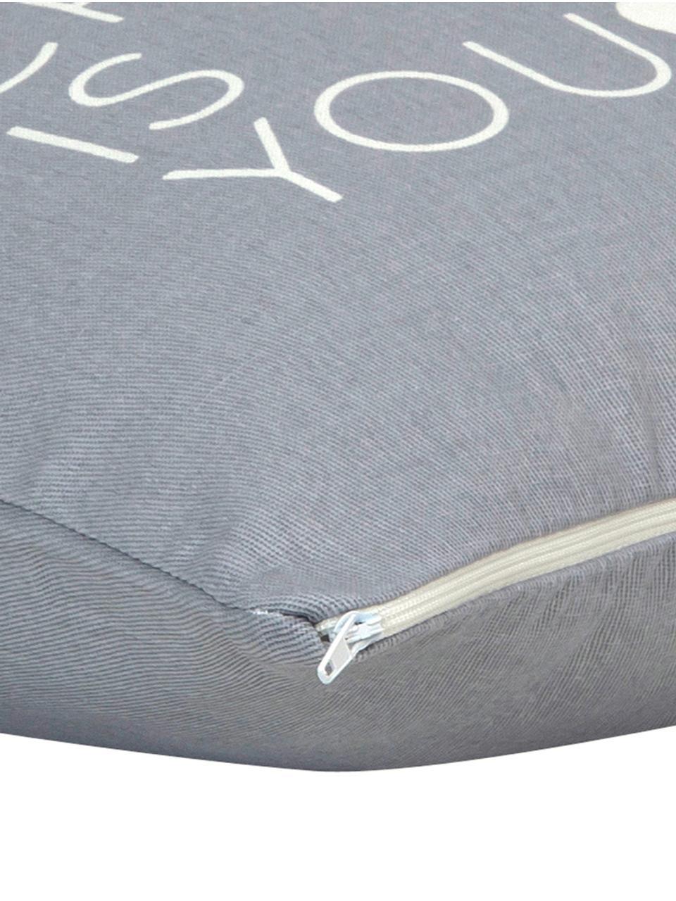 Funda de cojín All IWant, 100%algodón, tela Panamá, Gris, crudo, An 40 x L 40 cm