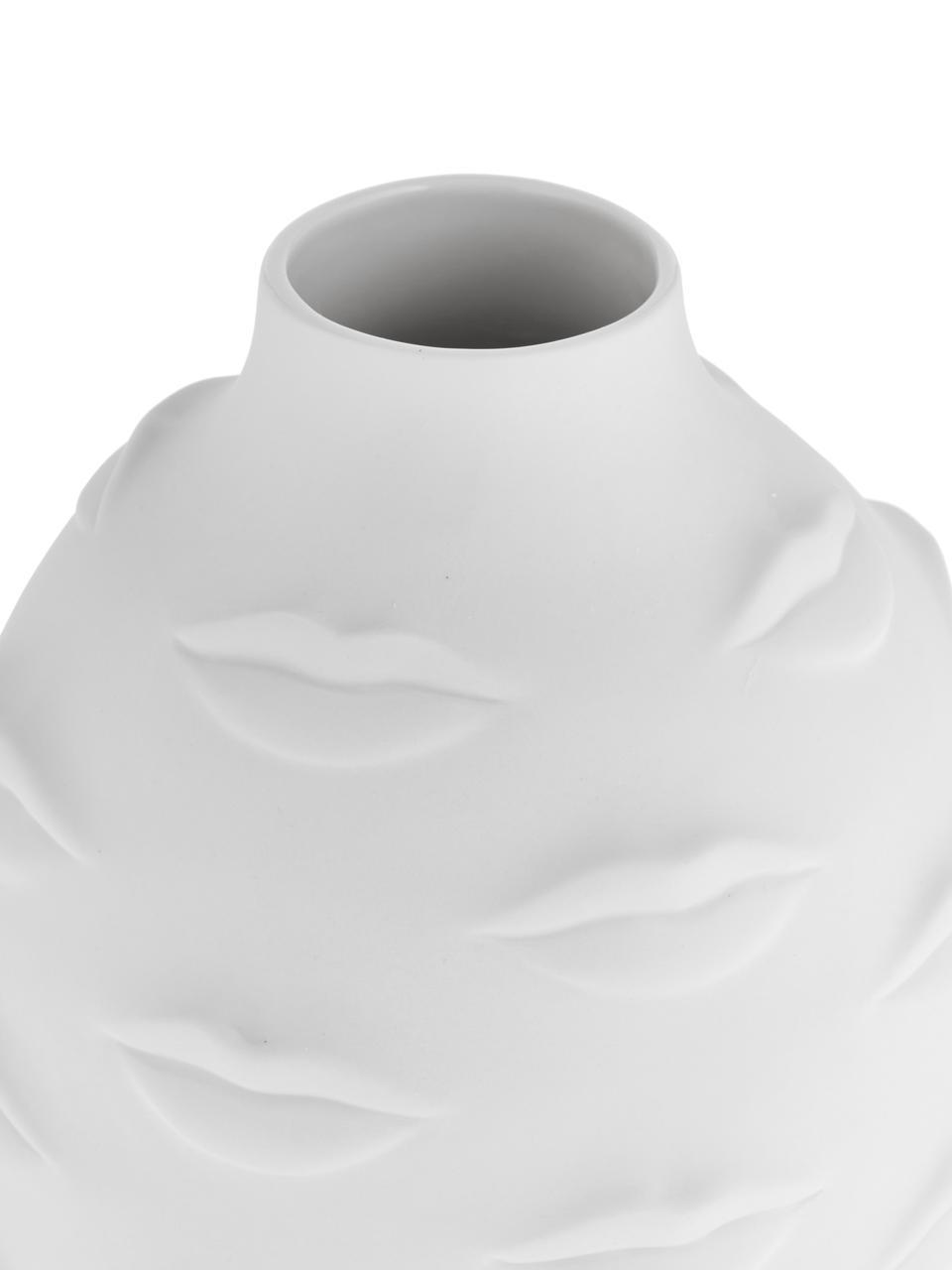 Design-Vase Gala aus Porzellan, Porzellan, Weiß, Ø 15 x H 25 cm