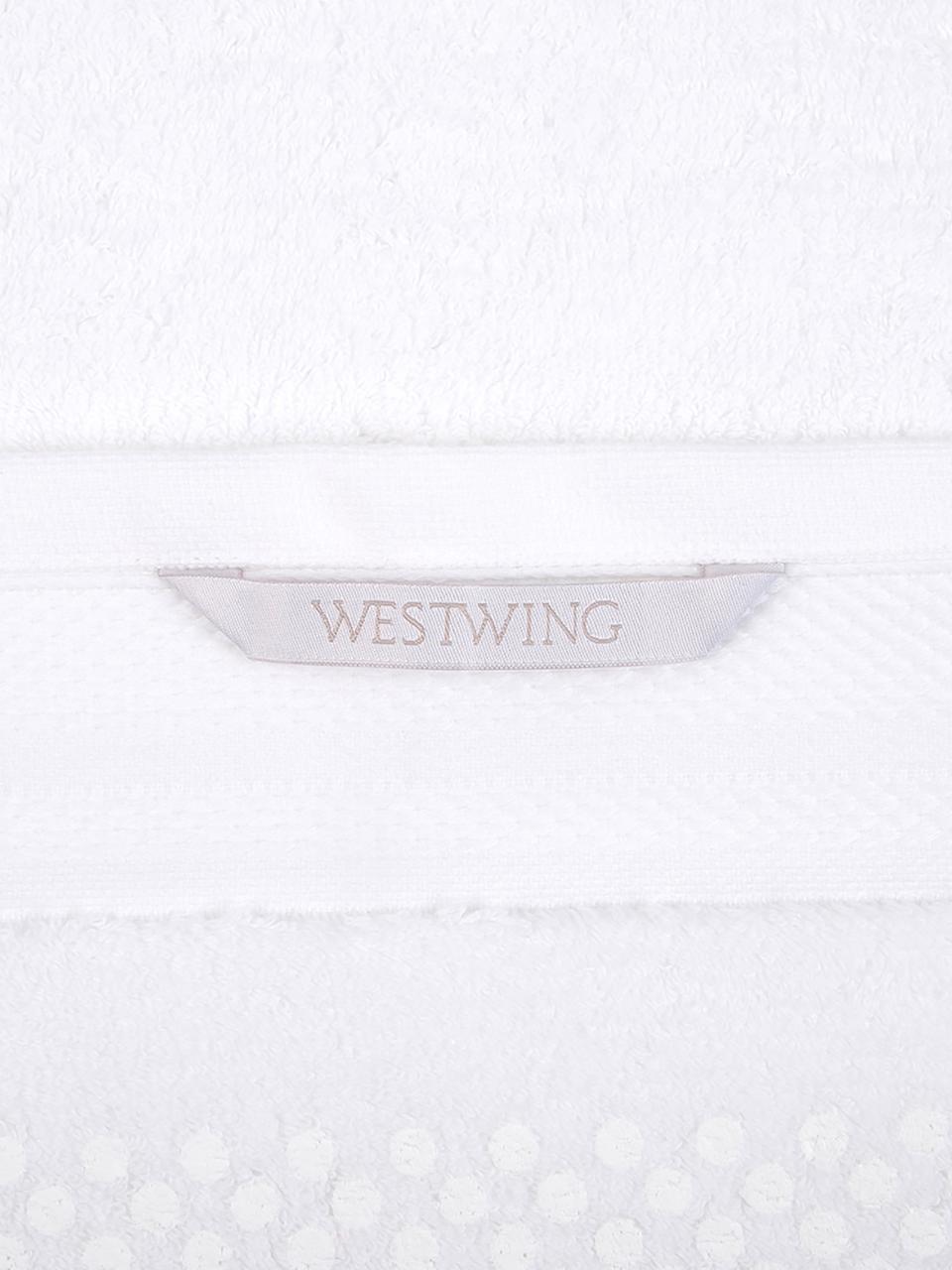 Badematte Premium, rutschfest, 100% Baumwolle, schwere Qualität 600 g/m², Weiß, 50 x 70 cm