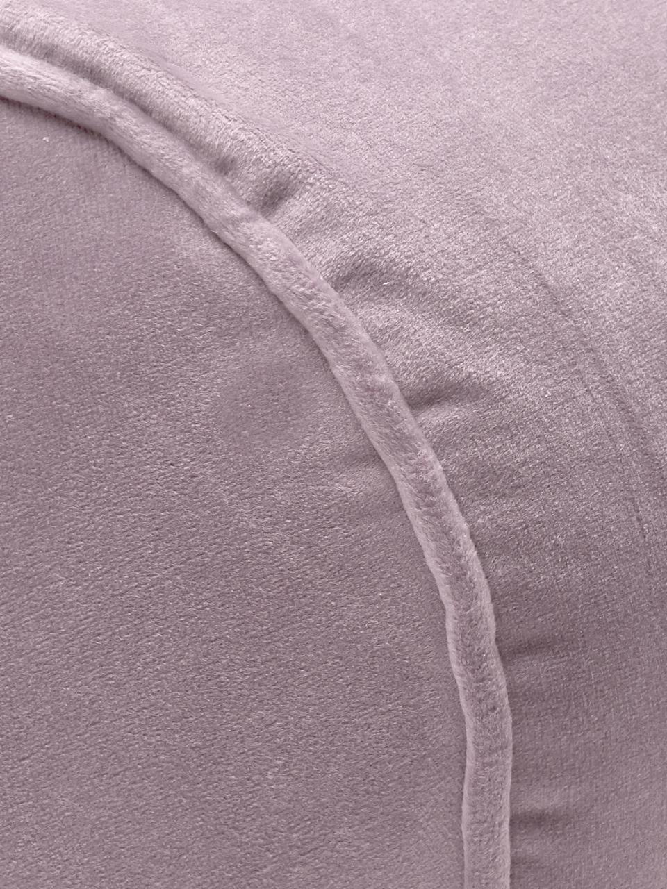 Glänzende Samt-Nackenrolle Monet in Altrosa, mit Inlett, Bezug: 100% Polyestersamt, Altrosa, Ø 18 x L 50 cm