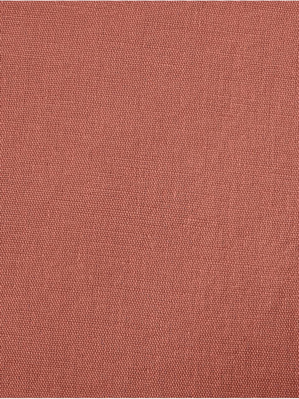 Parure copripiumino in lino lavato Nature, 52% lino, 48% cotone Con effetto stonewash per una presa morbida, Terracotta, 255 x 200 cm
