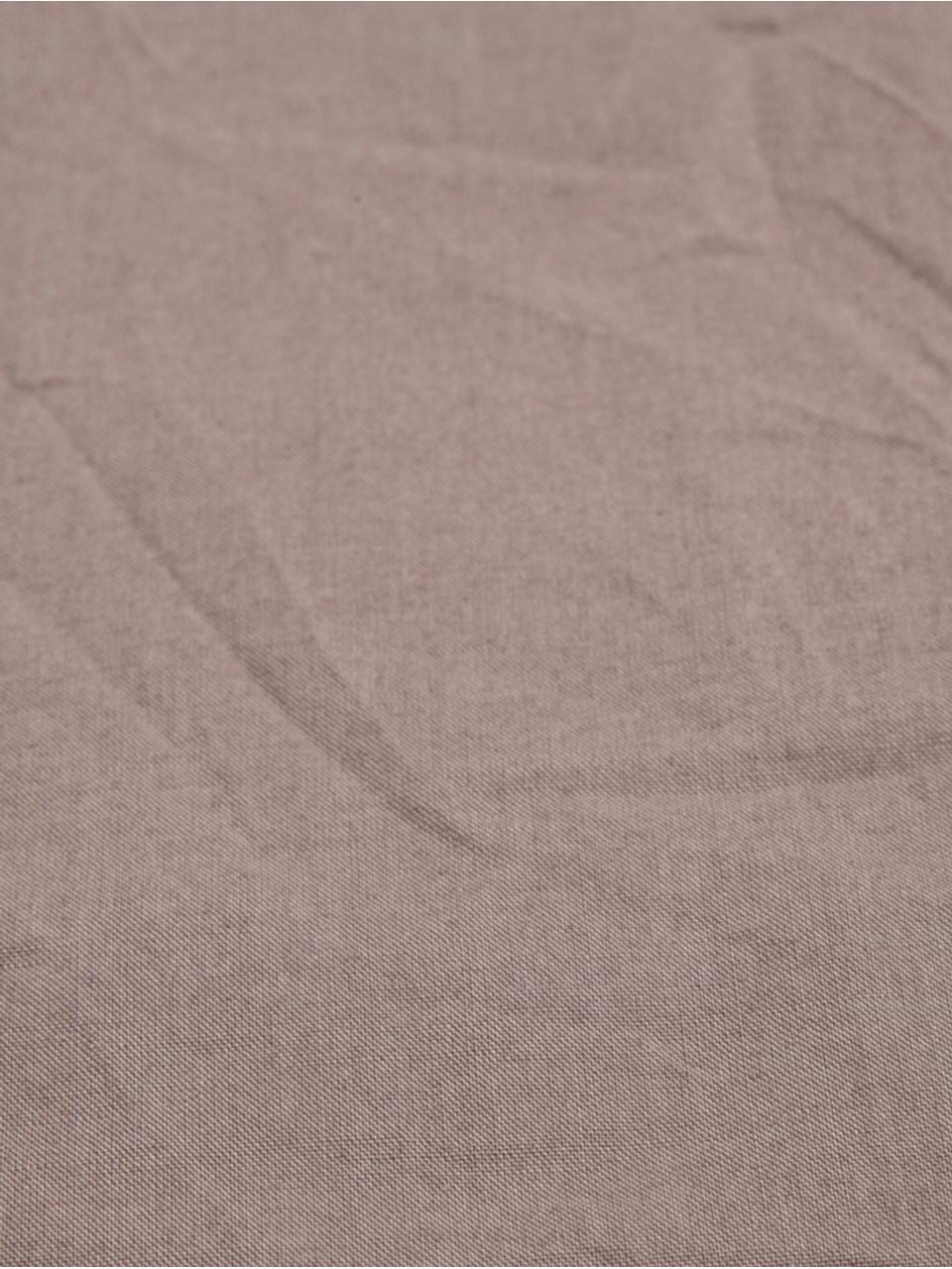 Parure copripiumino in cotone effetto stone washed Velle, Tessuto: cotone ranforce, Fronte e retro: taupe, 155 x 200 cm