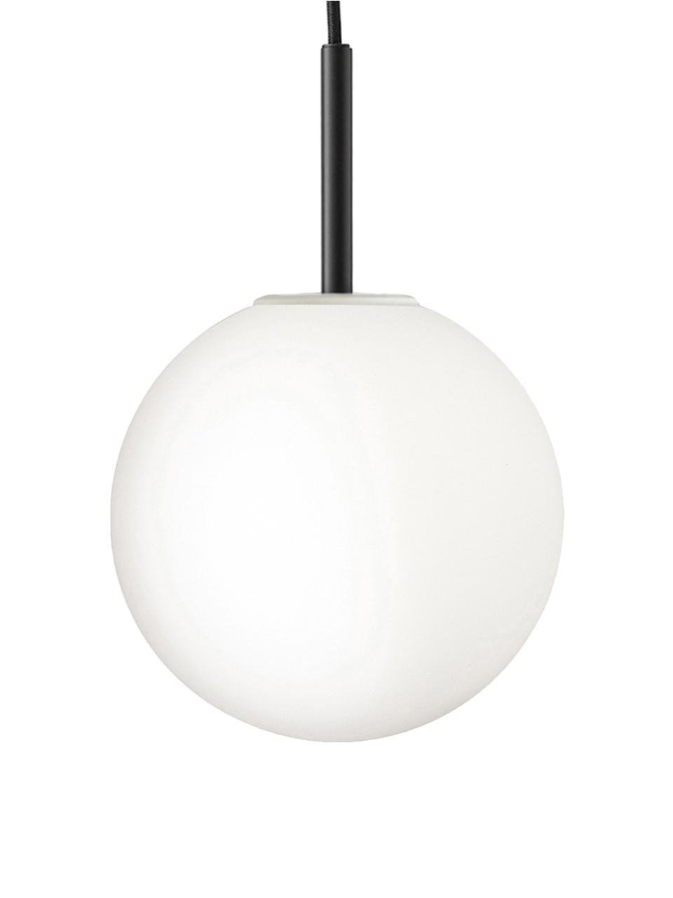 Malé závěsné LED svítidlo z opálového skla TR Bulb, Bílá, černá