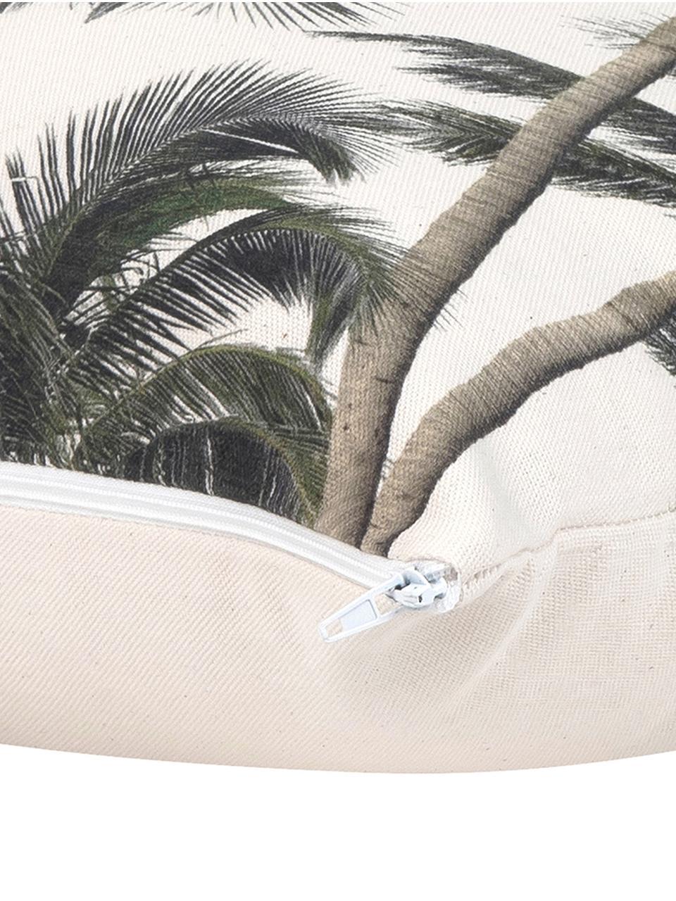 Poszewka na poduszkę Mogli, 100% bawełna, Ecru, zielony, S 40 x D 40 cm