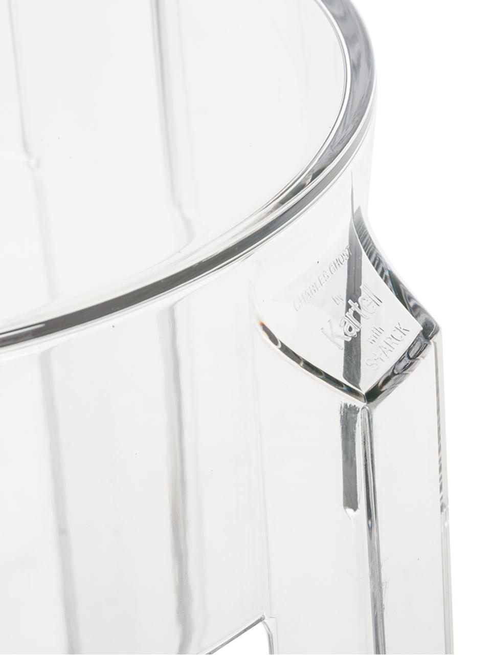 Transparenter Barhocker Ghost, Polykarbonat, Transparent, Ø 46 x H 75 cm