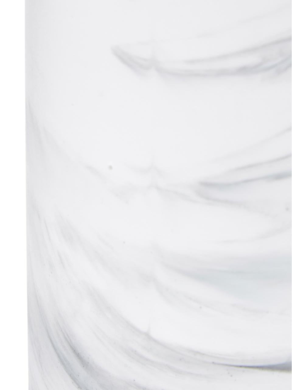 Dozownik do mydła Swan, Pojemnik: biały, marmurowy Pompka: odcienie srebrnego, Ø 7 x W 17 cm