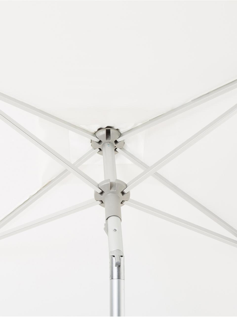 Parasol Elba, Mât et baleines: aluminium Toile: blanc