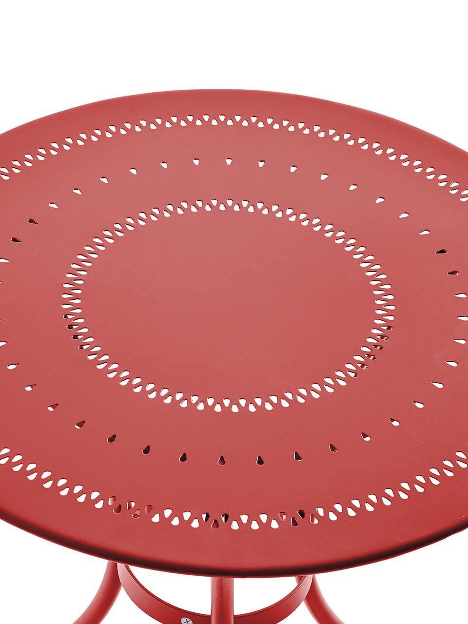 Table bistro de jardin en métal Century, Rouge