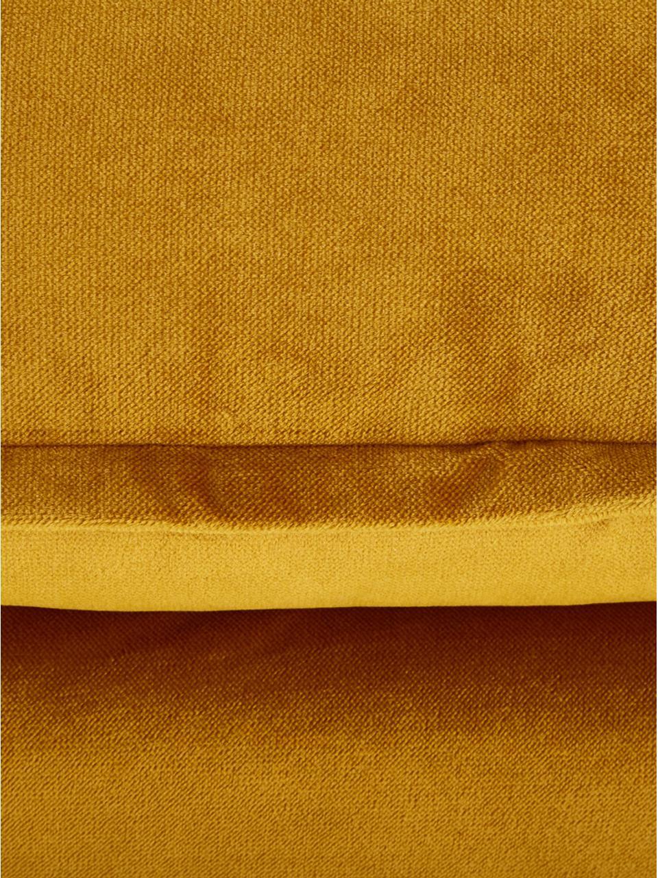 Divano 2 posti in velluto giallo ocra Retro, Rivestimento: velluto di poliestere 86., Sottostruttura: schiuma fredda (schiuma H, Piedini: metallo verniciato a polv, Velluto ocra, Larg.175 x Prof. 83 cm