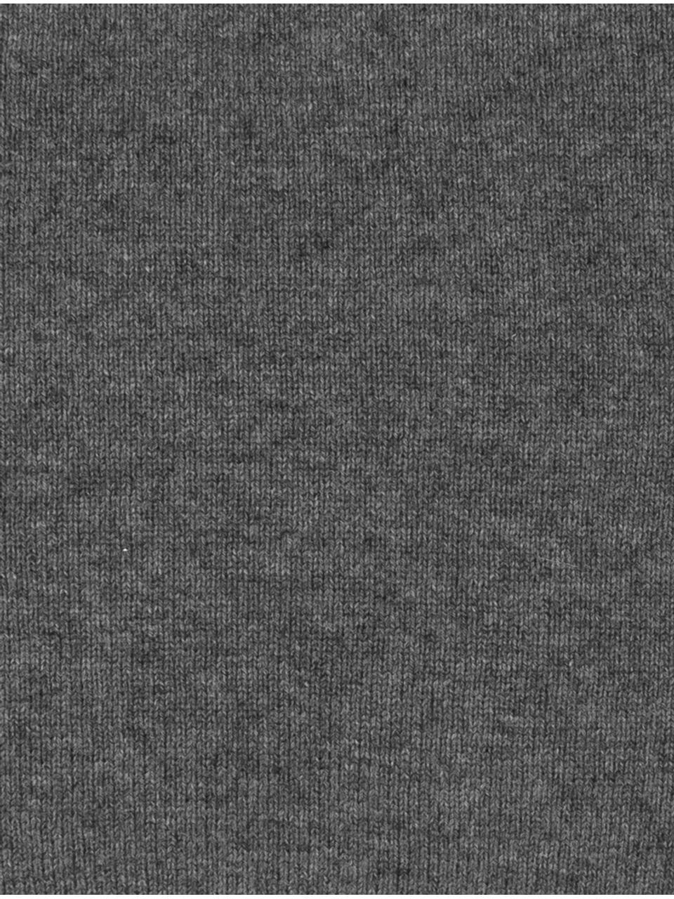 Fein gestrickte Kaschmir-Kissenhülle Viviana, 70% Kaschmir, 30% Merinowolle, Dunkelgrau, 40 x 40 cm