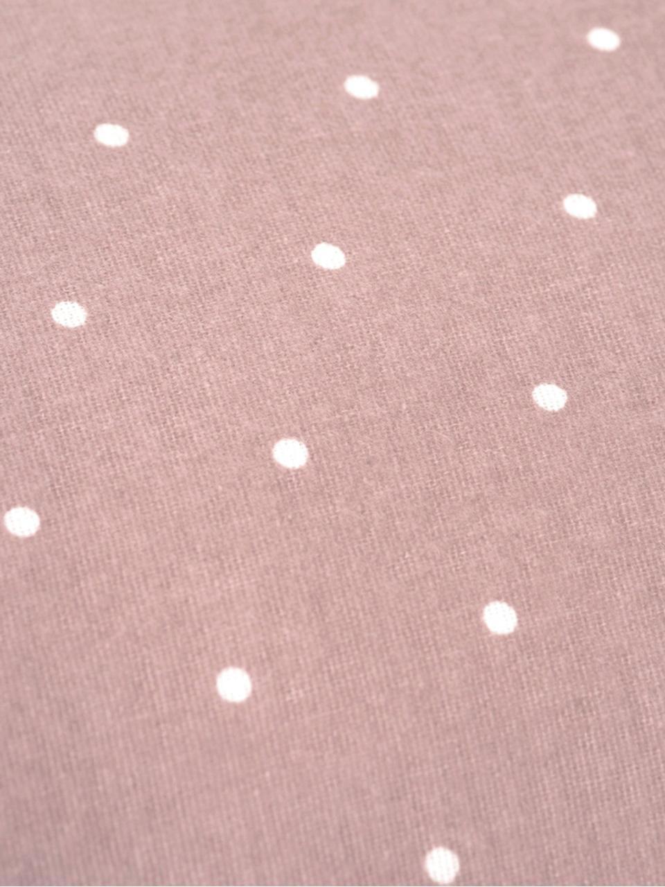 Dwustronna pościel z flaneli Betty, Brudny różowy, biały, 135 x 200 cm
