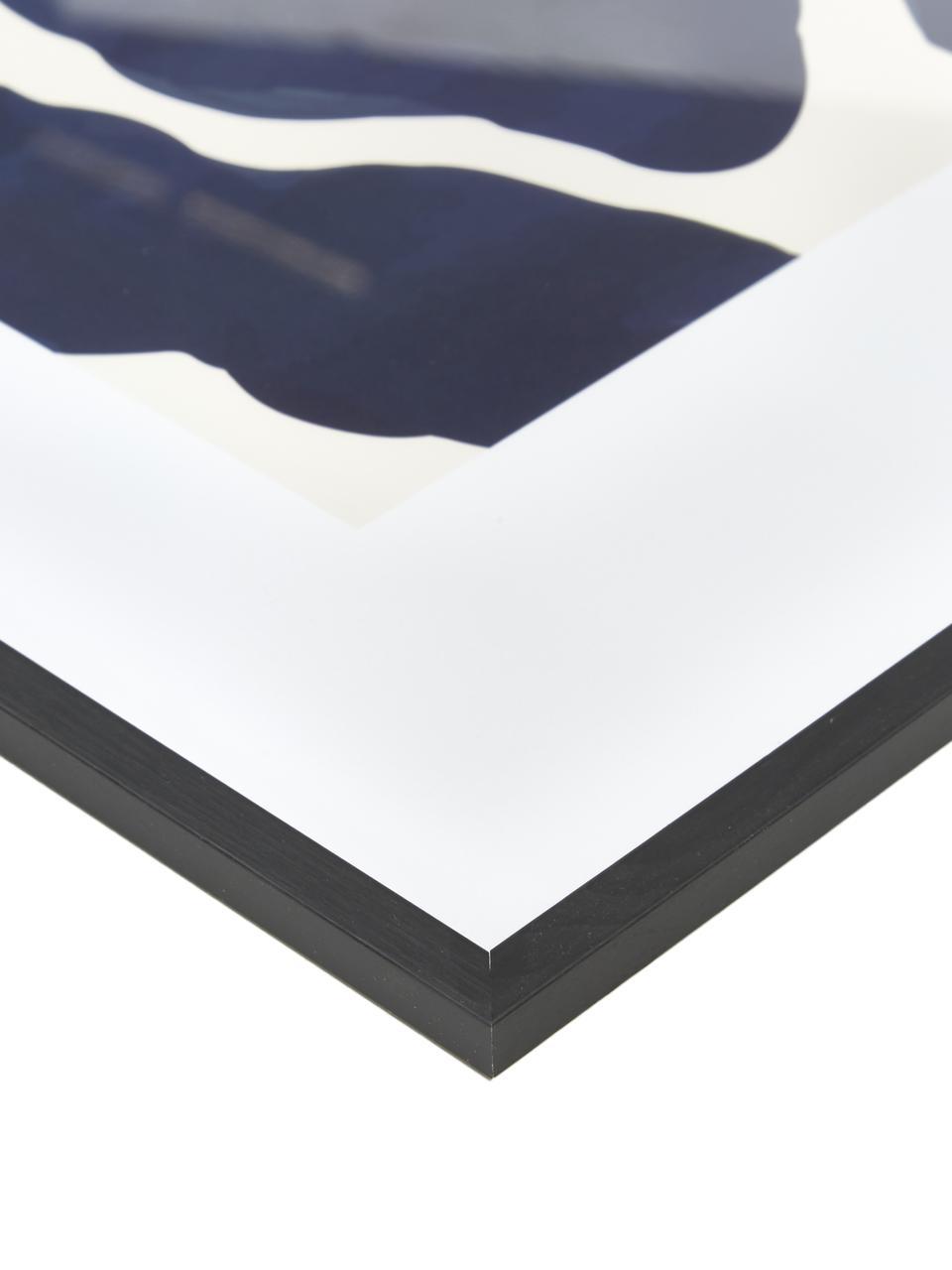 Stampa digitale incorniciata Greta, Cornice: legno di pino, Immagine: stampa digitale su carta, Nero, Larg. 52 x Alt. 72 cm