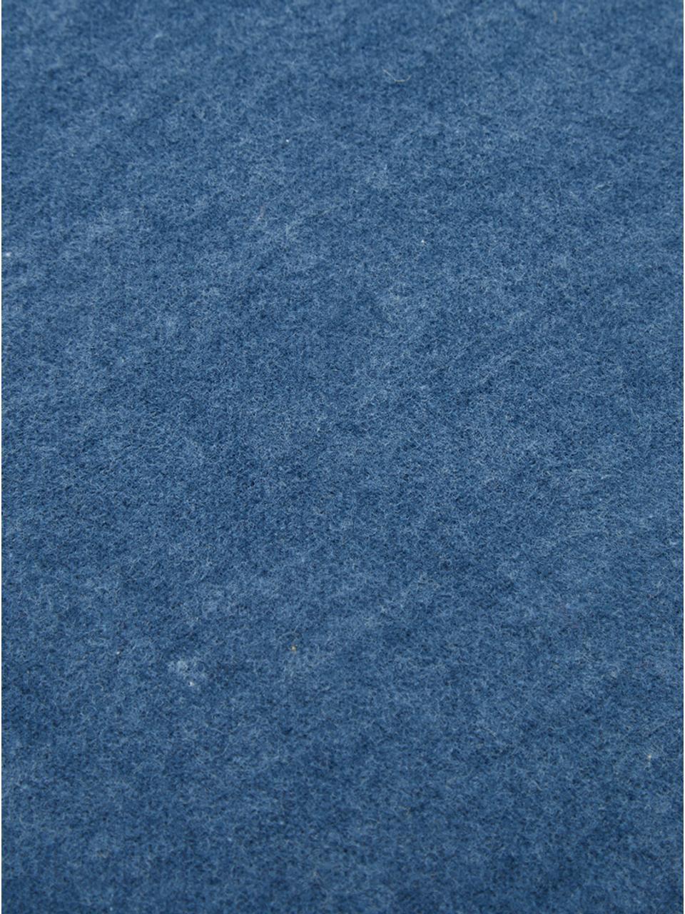 Flanellen dekbedovertrek Groove, Weeftechniek: flanel, Indigoblauw, 240 x 220 cm