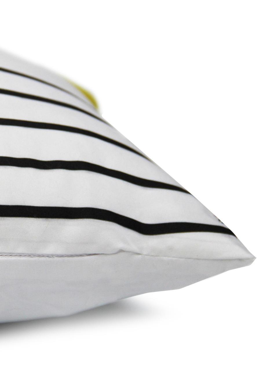 Federa arredo a righe Magdalena, Poliestere, Bianco, giallo, nero, Larg. 30 x Lung. 50 cm
