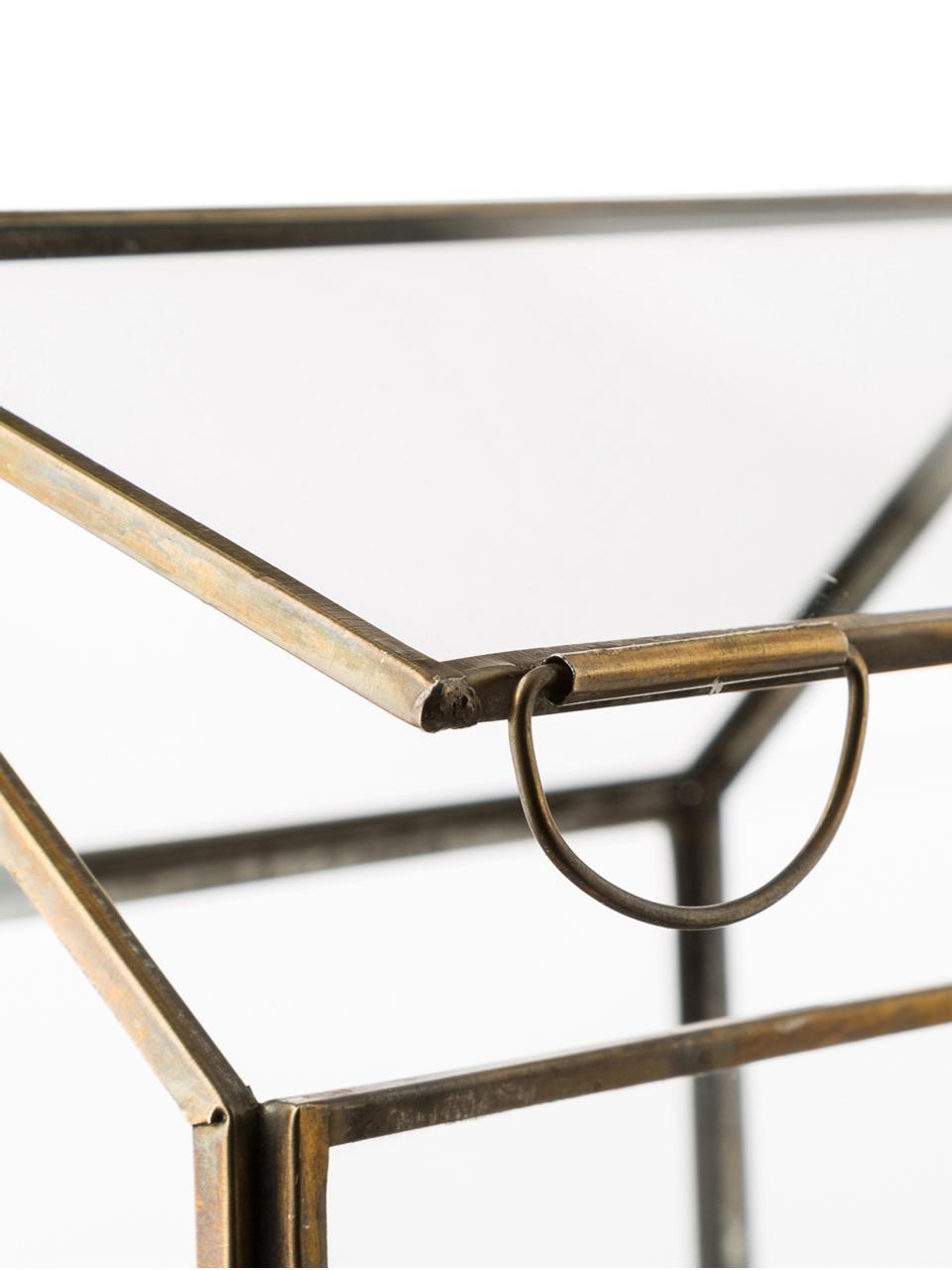 Windlicht My House, Gestell: Metall, beschichtet, Bronzefarben, 19 x 18 cm