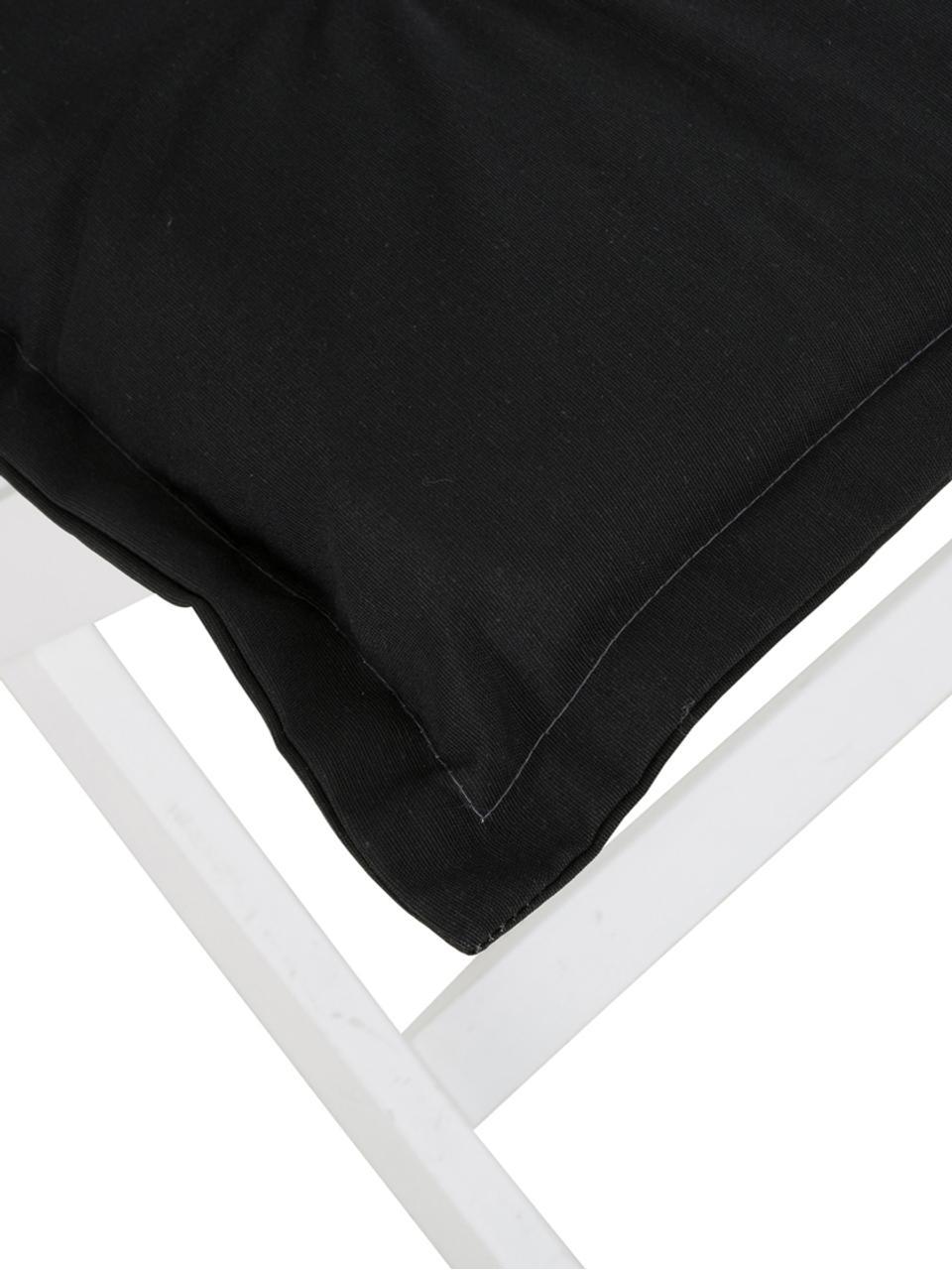 Nakładka na siedzisko z oparciem Panama, Tapicerka: 50% bawełna, 50%polieste, Czarny, S 50 x D 123 cm
