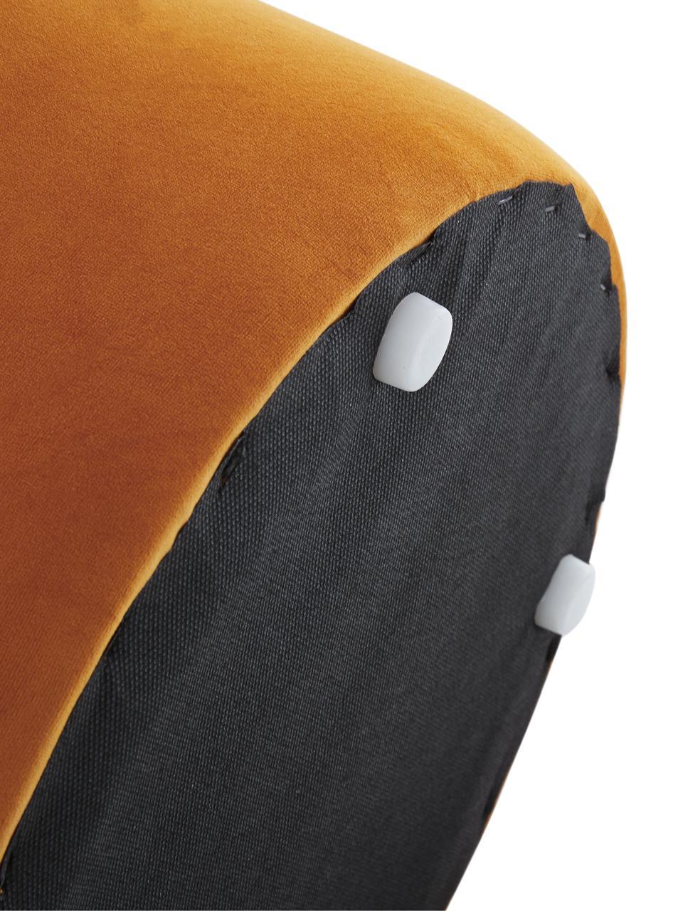 Puf de terciopelo Daisy, Tapizado: terciopelo (poliéster) 15, Estructura: tablero de fibras de dens, Terciopelo terracota, Ø 38 x Al 45 cm