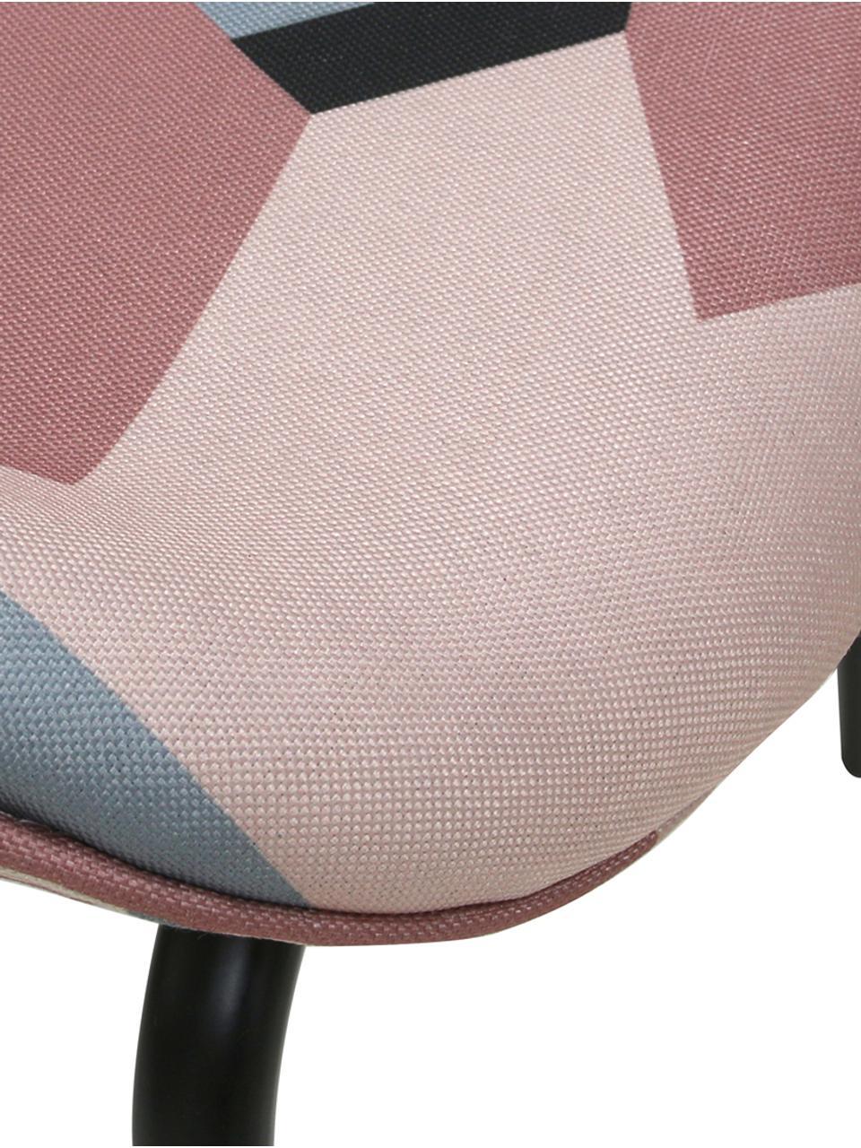 Polsterstühle Dining, 2 Stück, Bezug: Polyestersamt 4.000 Scheu, Beine: Metall, pulverbeschichtet, Mehrfarbig, B 63 x T 48 cm