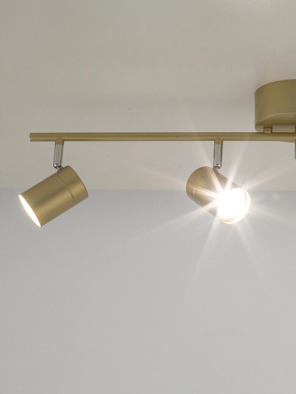 Faretti da soffitto Correct, Paralume: metallo rivestito, Struttura: metallo rivestito, Baldacchino: metallo rivestito, Dorato, Larg. 83 x Alt. 18 cm