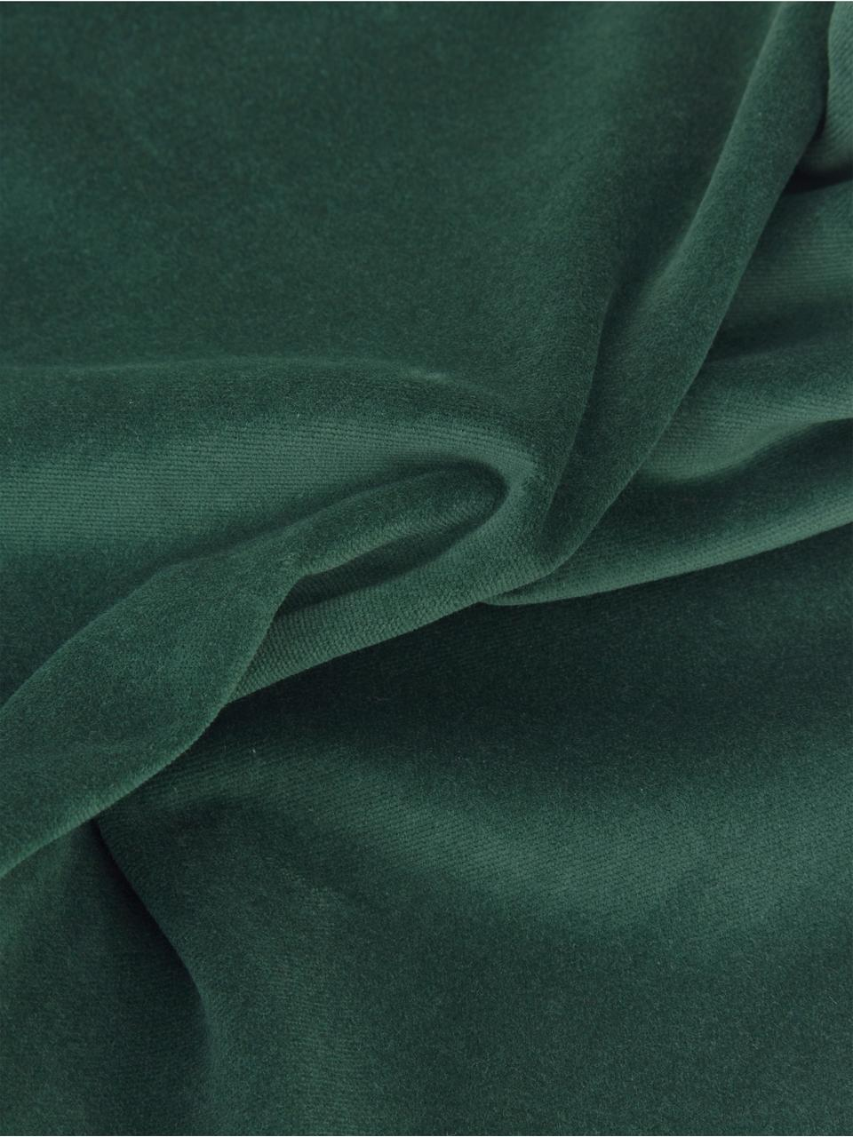 Effen fluwelen kussenhoes Dana in smaragdgroen, 100% katoenfluweel, Smaragdgroen, 40 x 40 cm