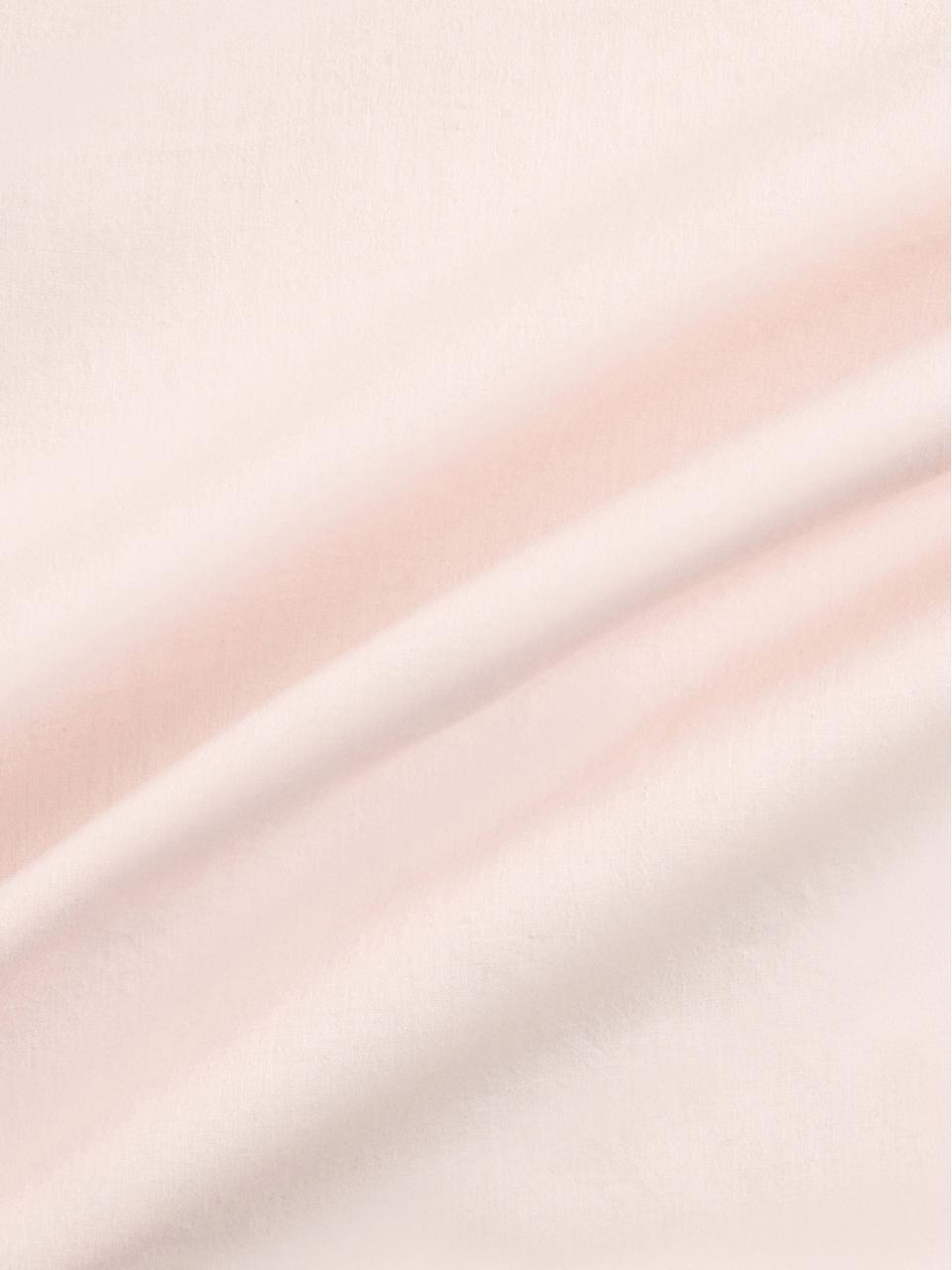 Baumwollperkal-Bettwäsche Fia mit getufteter Verzierung, Webart: Perkal Fadendichte 180 TC, Apricot, 240 x 220 cm + 2 Kissen 80 x 80 cm