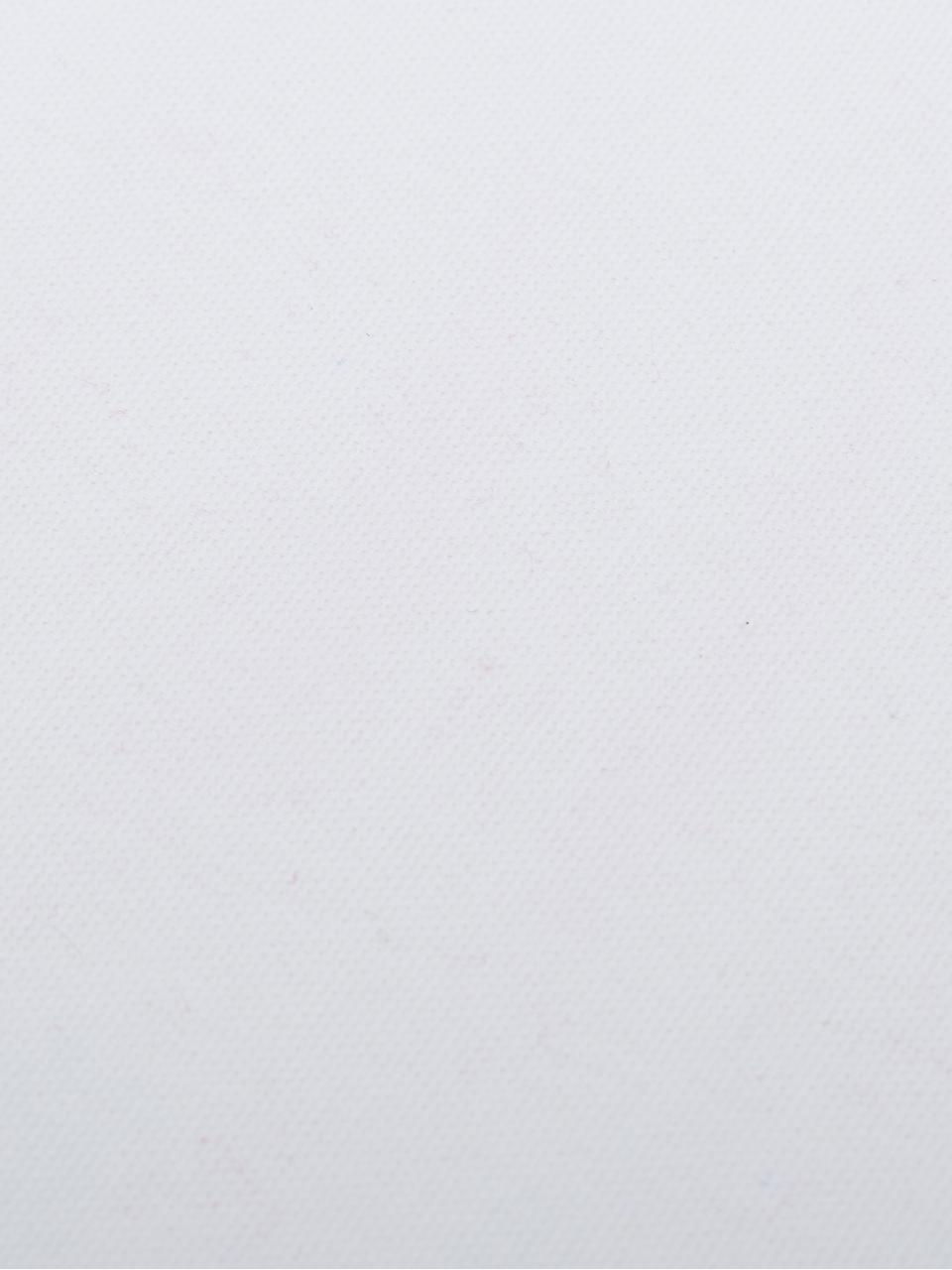 Housse de coussin 40x40 blanc à houppes Shylo, Blanc