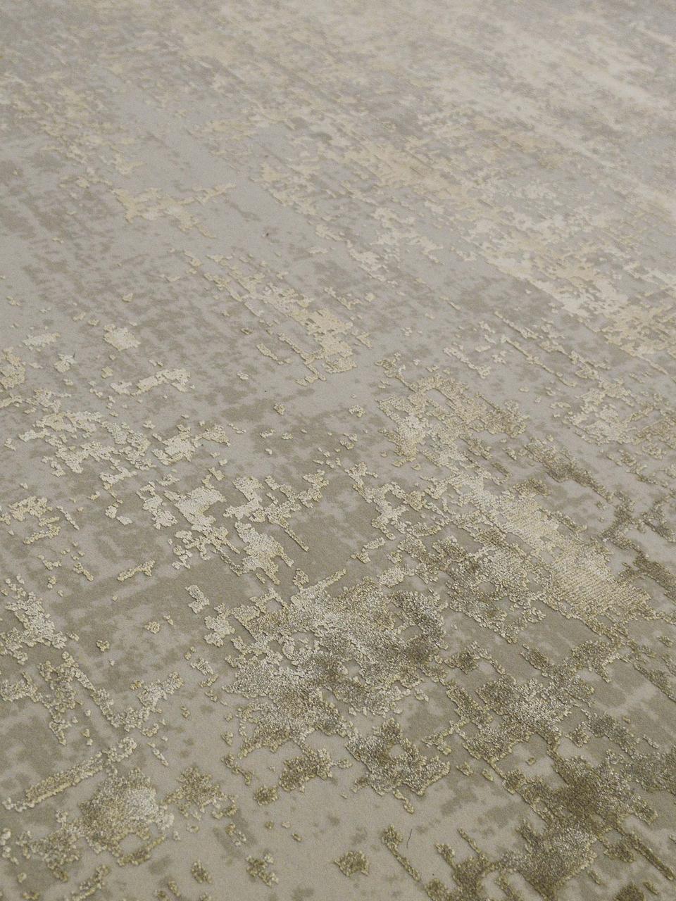 Tappeto vintage con frange effetto lucido Cordoba, Retro: cotone, Tonalità beige, Larg. 130 x Lung. 190 cm (taglia S)