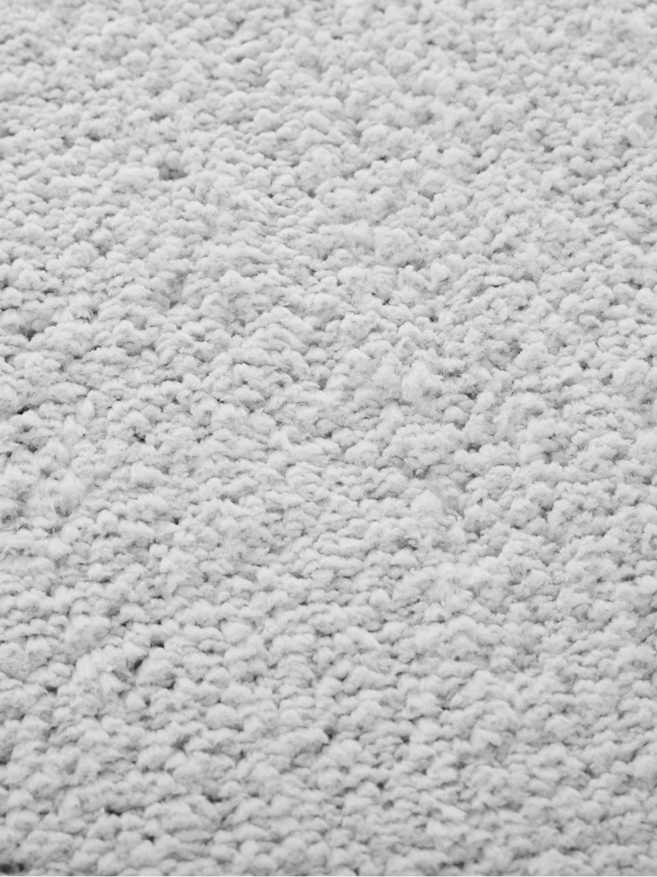 Flauschiger Hochflor-Teppich Leighton in Hellgrau, Flor: 100% Polyester (Mikrofase, Hellgrau, B 80 x L 150 cm (Grösse XS)