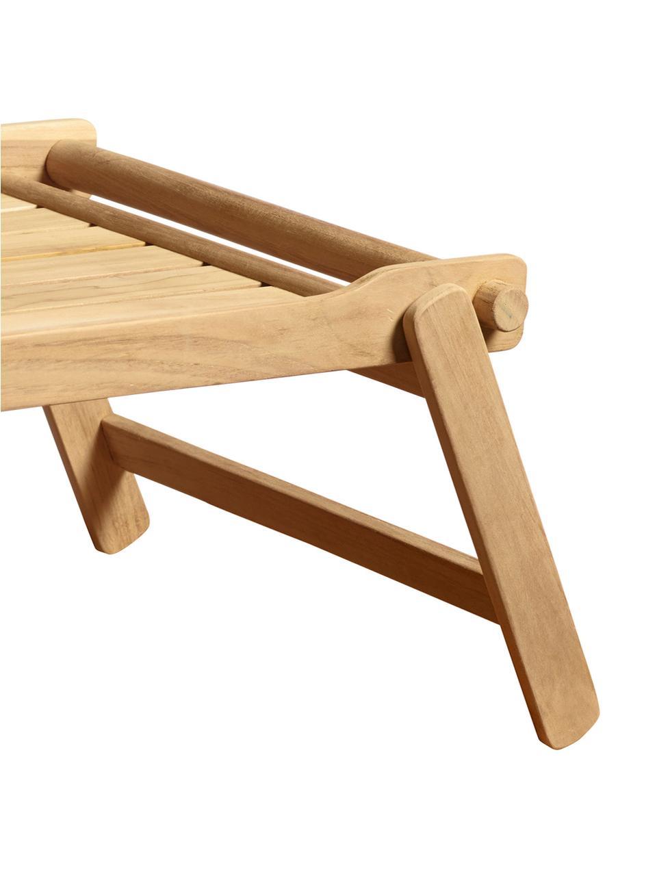 Plateau pliable sur pieds en bois Bed, larg. 36 x long. 58cm, Teck