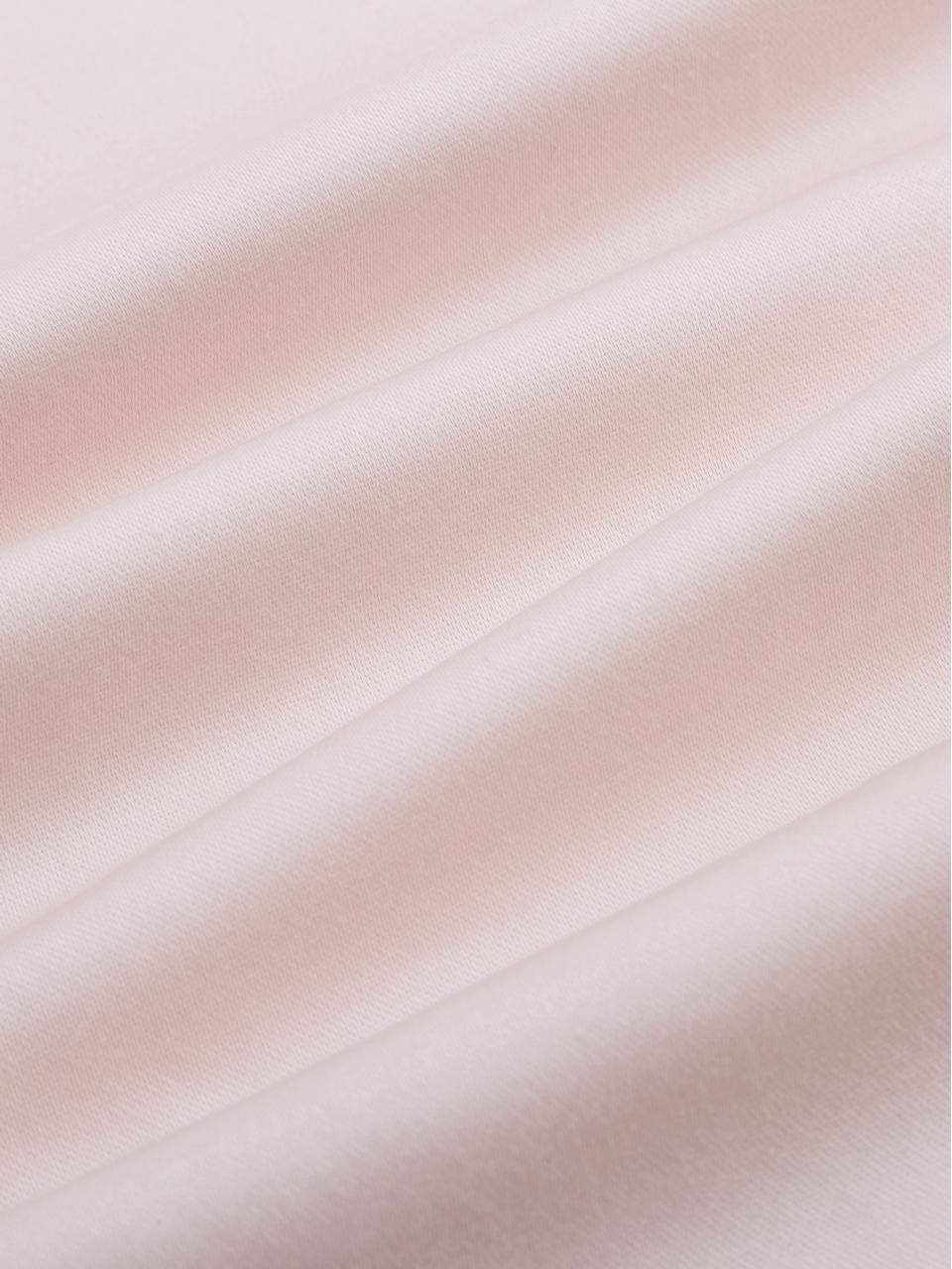 Pościel z satyny bawełnianej z lamówką Premium, Blady różowy, 240 x 220 cm + 2 poduszki 80 x 80 cm