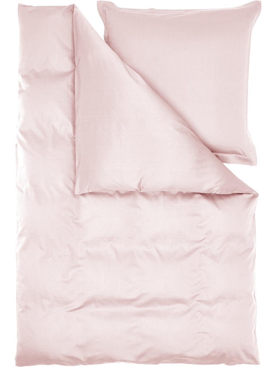 Baumwollsatin-Bettwäsche Premium in Rosa mit Stehsaum, Webart: Satin Fadendichte 400 TC,, Rosa, 240 x 220 cm + 2 Kissen 80 x 80 cm
