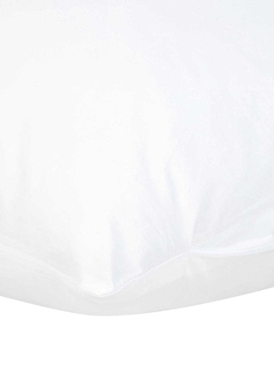 Baumwollperkal-Kissenbezüge Mr&Mrs mit Schriftzug, 2er-Set, Webart: Perkal Fadendichte 180 TC, Weiß, Schwarz, 40 x 80 cm