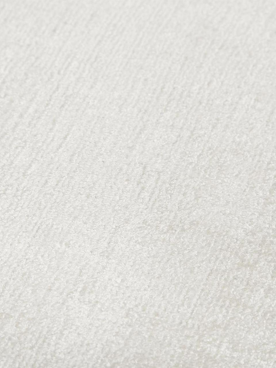 Handgeweven viscose vloerkleed Jane in ivoorkleur, Bovenzijde: 100% viscose, Onderzijde: 100% katoen, Ivoorkleurig, B 90 x L 150 cm (maat XS)