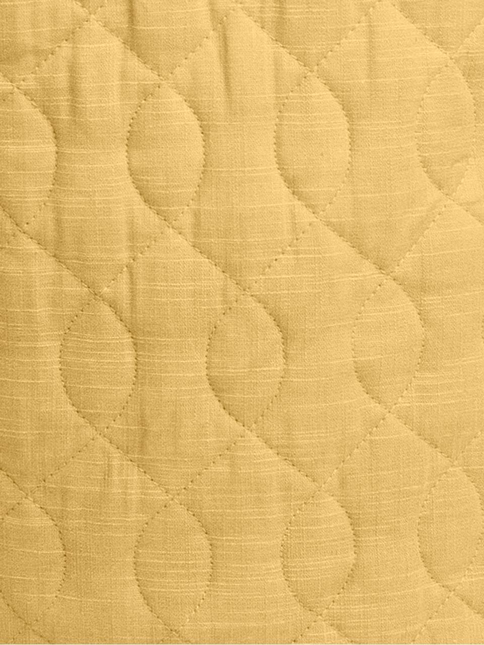 Aufbewahrungskorb Steppi, Bezug: Baumwolle, Gelb, Ø 40 x H 40 cm