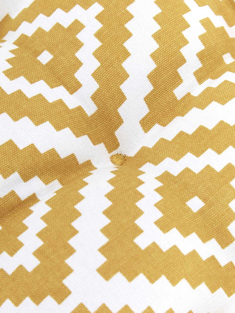 Sitzkissen Miami in Gelb/Weiß, Bezug: 100% Baumwolle, Gelb, 40 x 40 cm