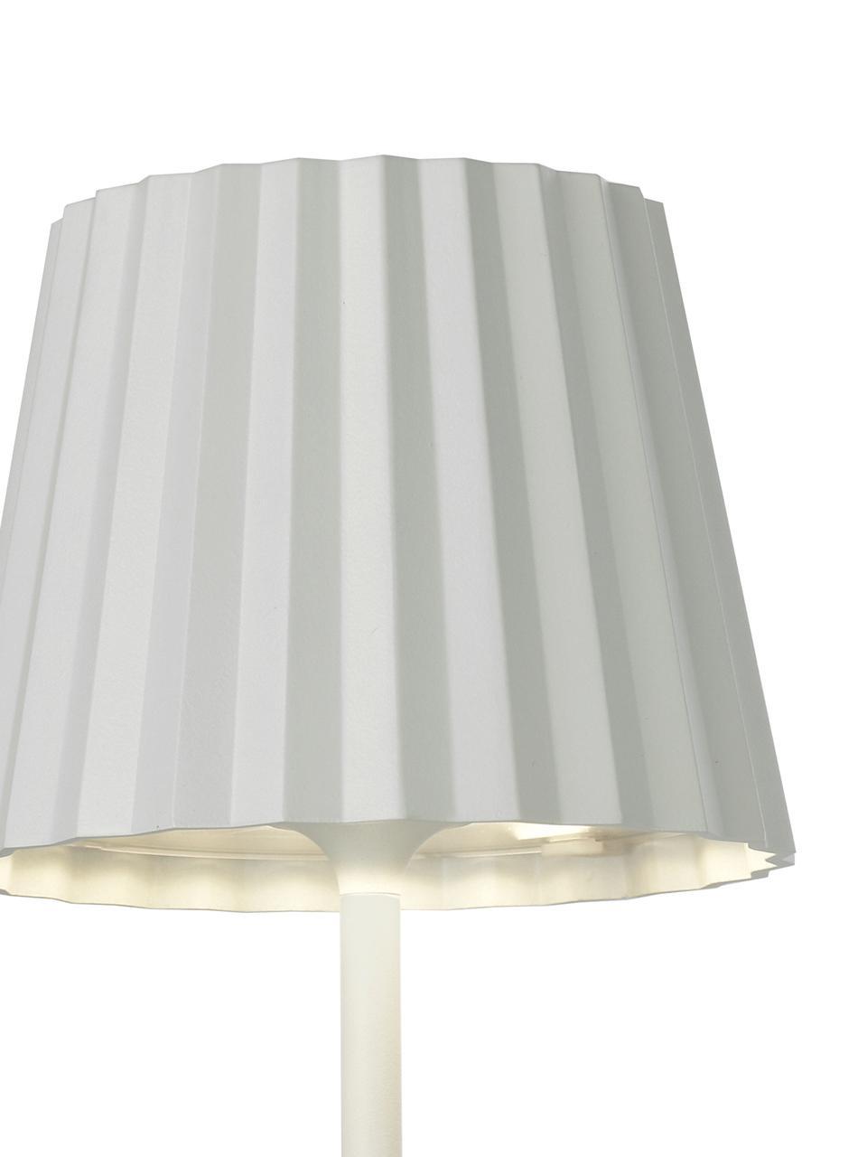 Přenosná stmívatelná venkovní stolní lampa Trellia, Bílá