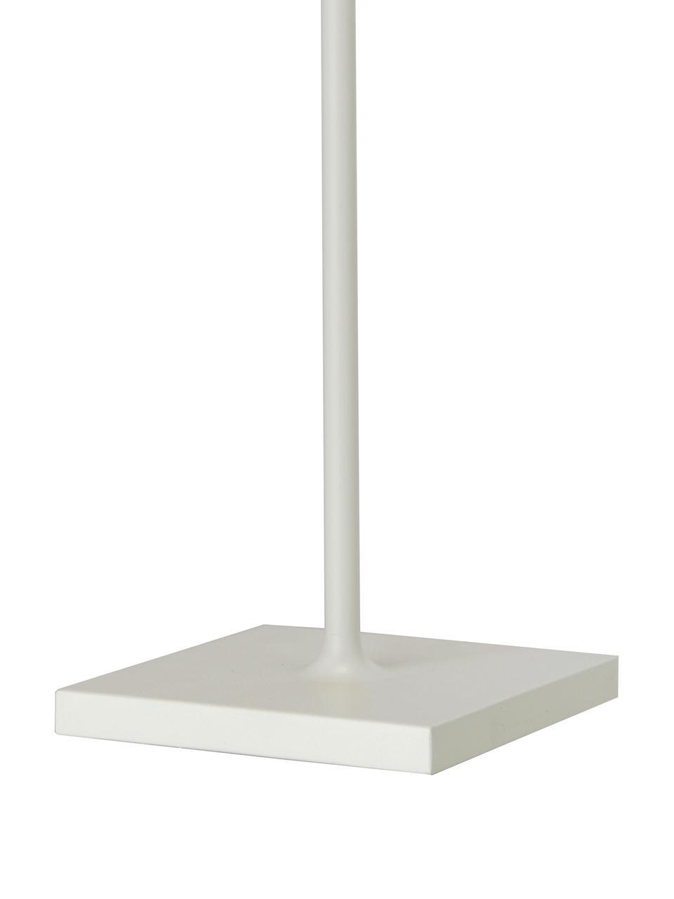Mobile LED-Außentischleuchte Trellia, Aluminium, lackiert, Weiß, Ø 15 x H 38 cm