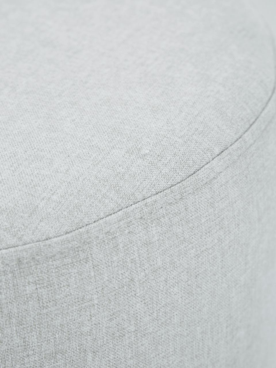 Hocker Mara mit Wiener Geflecht, Bezug: Polyester Der hochwertige, Rahmen: Sperrholz, Fuß: Massives Birkenholz, Ratt, Grau, Ø 37 x H 39 cm