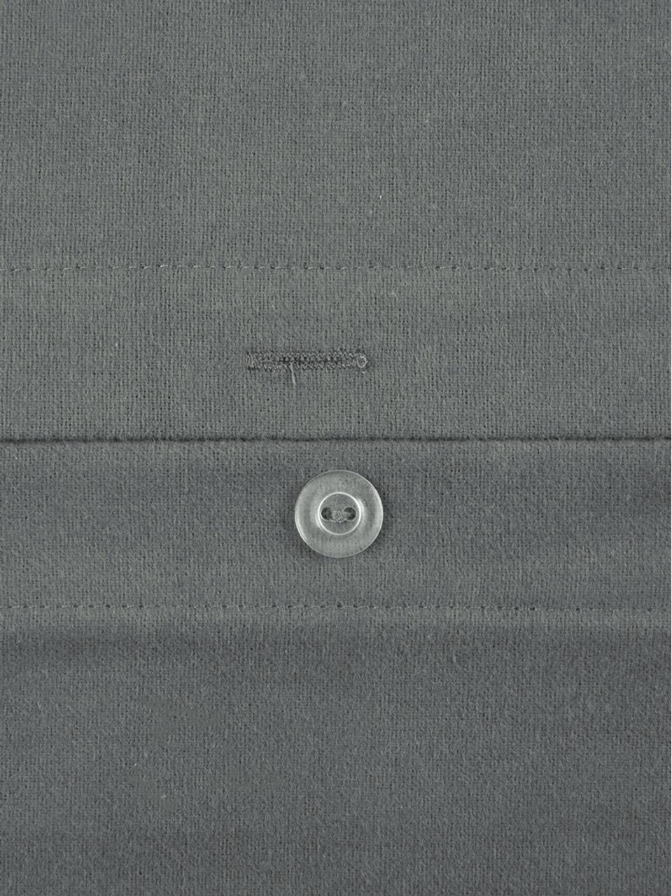 Flanell-Bettwäsche Biba in Dunkelgrau, Webart: Flanell Flanell ist ein k, Dunkelgrau, 135 x 200 cm + 1 Kissen 80 x 80 cm