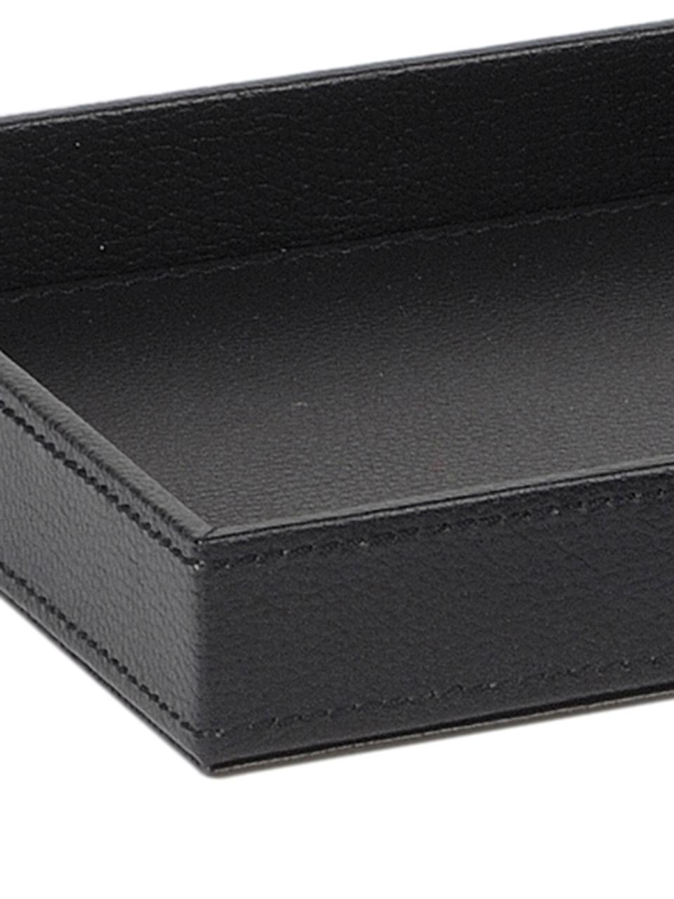 Decoratief dienblad Server, Frame: MDF, Bekleding: polyuerthaan, Zwart, B 18 x D 18 cm