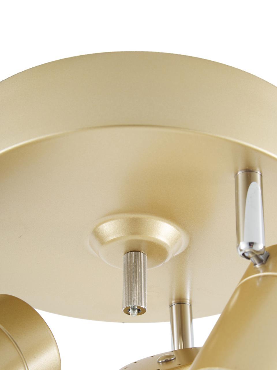 Kleiner Deckenstrahler Correct in Gold, Baldachin: Metall, beschichtet, Goldfarben, Ø 20 x H 14 cm